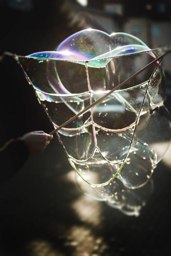 Schmetterling Bubble Photoshoot